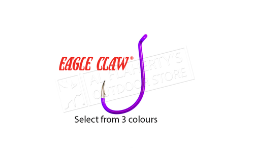 Eagle Claw Colour Long Shank Octopus Hook, 25 Pack #L2
