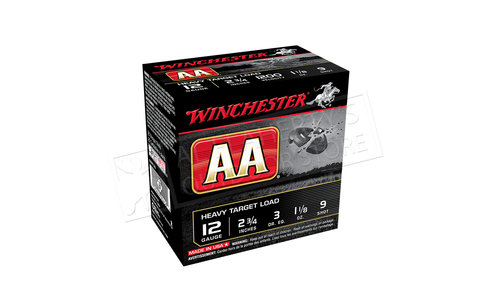 """(Store Pick up Only) Winchester AA Heavy Target Load 12 Gauge #7.5, 2-3/4"""", 1-1/8 oz., Case of 250 #AAM129CASE"""