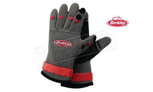 Berkley Neoprene Fishing Gloves with Folding Back Fingertips #BTNFGG