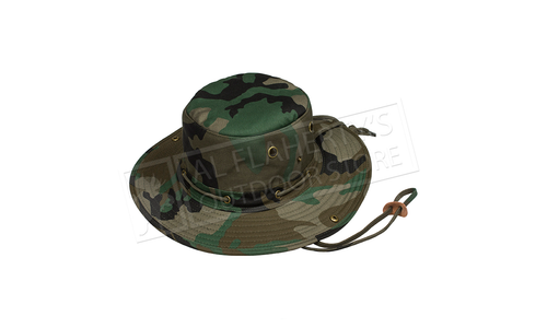 World Famous Boonie Cap in Woodland Camo, M to XL #7362