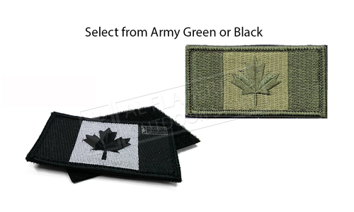 Canadian Flag Embroidered Duty Patch with Backing #253