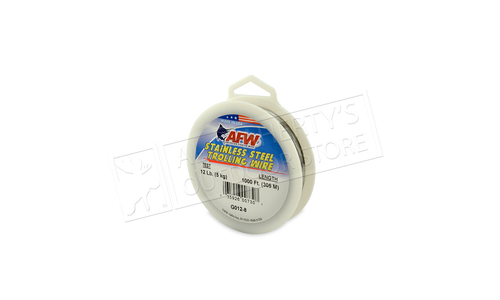 American Wire Stainless Steel Trolling Wire, T304, 12 lb (5.45 kg) test 1000 ft (305 m)