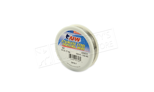 American Wire Stainless Steel Trolling Wire, T304, 15 lb (7 kg) test, 600 ft (182 m)