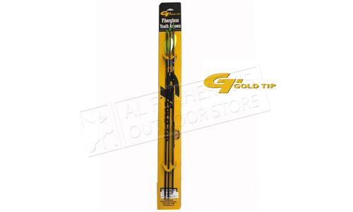 "Gold Tip Fiberglass Arrow Black 29"" with 2.5 Vanes 3 Pack #FIBA253"