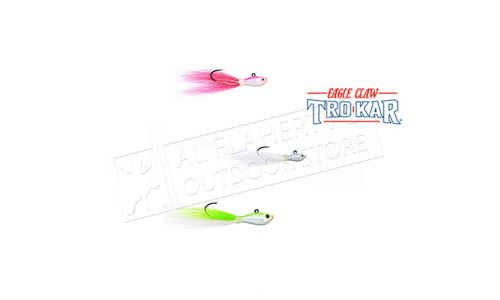 Eagle Claw TroKar Bucktail Jig Hook Assortment, Size 1 Pack of 3 Patterns #TKBJA