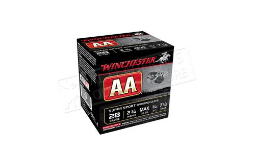"Winchester AA Super Sport Sporting Clays Shot Shells 28 Gauge 2-3/4"" #7.5 Shot Box of 25 #AASC287"