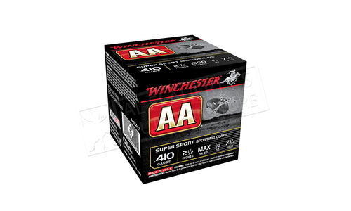 """Winchester AA Super Sport Sporting Clays Shot Shells 410 Gauge 2-1/2"""" #7.5 or 8  Shot Box of 25 #AASC410"""