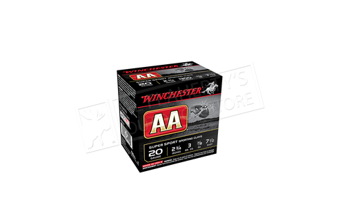 "Winchester AA Super Sport Sporting Clays Shot Shells 20 Gauge 2-3/4"" #7-1/2 Shot Case of 250 #AASC207"