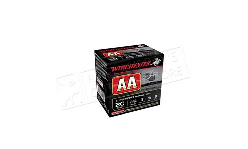 "Winchester AA Super Sport Sporting Clays Shot Shells 20 Gauge 2-3/4"" #8 Shot, 7/8 oz. Case of 250 #AASC208"