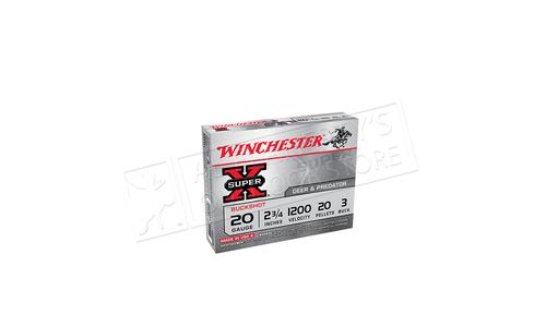 "Winchester Super X Buckshot 20 Gauge 2-3/4"" 3-Buck, Box of 5 #XB203"