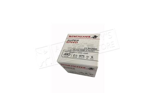 "Winchester Super Speed Game Loads 410 Gauge 2-1/2"" 8 Shot 1/2 oz. Box of 25 #WHS41"