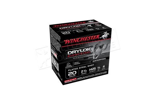"Winchester Drylok Super Steel Magnum Waterfowl Shells 20 Gauge 2-3/4"", Various Shot Size Box of 25 #XS20"