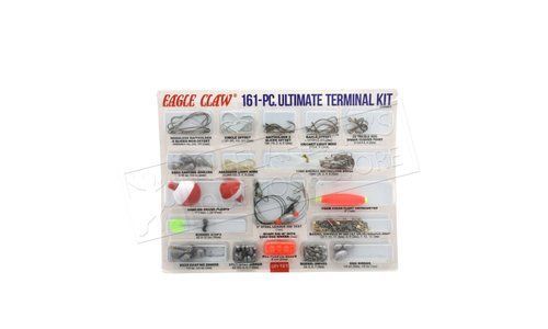 Eagle Claw Ultimate Terminal Kit, 161 Pieces #ECKWM-2