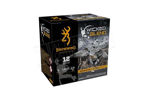 "Browning Ammo Wicked Blend Shells, Bismuth/Steel Shot, 12 Gauge, 3"" 1-1/4 oz, 2 + 4 #B193431232"