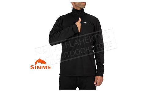Simms Men's Thermal 1/4 Zip Top, Black #13314-001