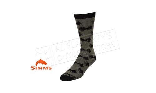 Simms Men's Daily Sock Wooly Bugger Moss #13451-746