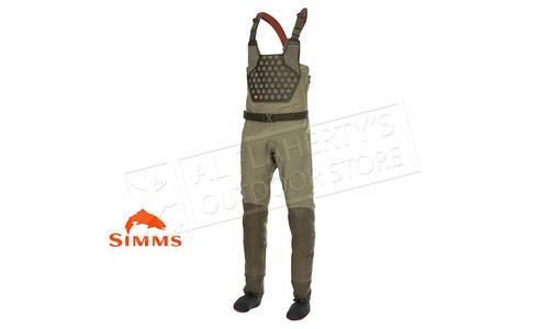 Simms Men's Flyweight Stocking Foot Wader, Dark Stone #12932-781