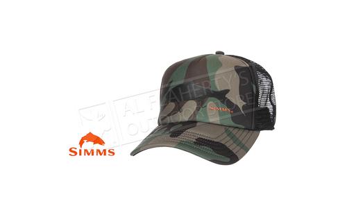 Simms Throwback Trucker Woodland Camo #13444-569-00