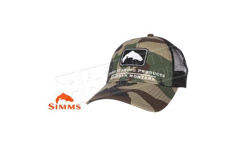 Simms Trout Icon Trucker CX Woodland Camo #12226-569-00