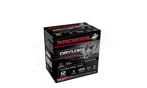 "Winchester Drylok Super Steel Waterfowl Shells 12 Gauge 3"", #1-1/4 or. 1400 fps, Box of 25 #XSV123"