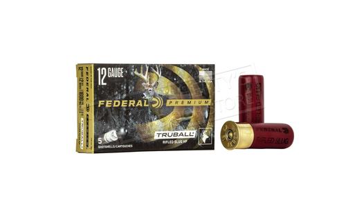 """Federal Vital Shok TruBall Rifled Slugs 12 Gauge 2-3/4"""", Box of 5 #PB127-RS"""