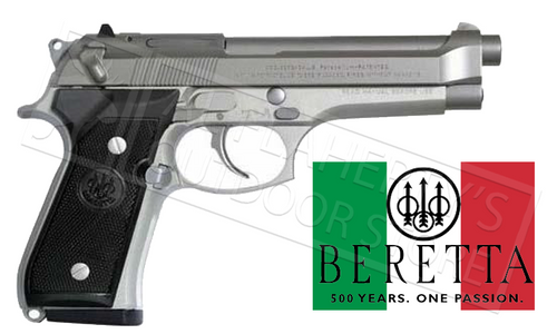 Italian Made Beretta 92FS Inox 9mm Pistol