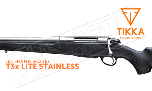 Tikka T3x Lite Stainless Rifle, Left Handed - Various Calibers