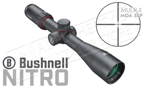 BUSHNELL NITRO RIFLESCOPE 4-16X44MM WITH MULTI-X MOA SFP RETICLE #RN4164BS3