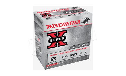 "Winchester Super-X Xpert High Velocity Waterfowl Shells 12 Gauge 2-3/4"" 1-1/8 oz, Various Shot Size #WE12GTH"
