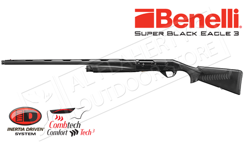 "Benelli Super Black Eagle 3 Shotgun Left Hand Model, 12 Gauge with 3.5"" Chamber, Black #10371"
