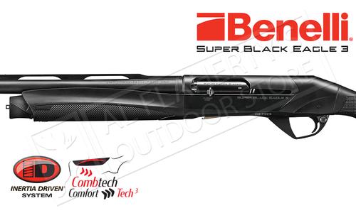 """Benelli Super Black Eagle 3 Shotgun Left Hand Model, 12 Gauge with 3.5"""" Chamber, Black #10371"""