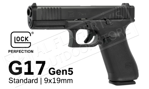 Glock 17 Gen5 with Fixed Sights 9mm
