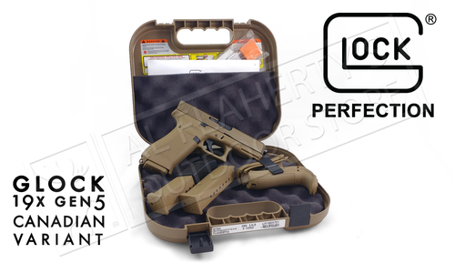 Glock 19X Gen5 Canadian Edition 9mm Pistol