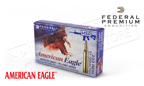AMERICAN EAGLE .223 REM TACTICAL, FMJ 55 GRAIN BOX OF 20