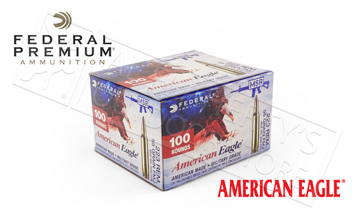 AMERICAN EAGLE .223 REM, FMJ 55 GRAIN BOX OF 100