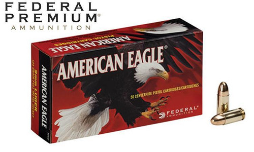 AMERICAN EAGLE 9MM PISTOL AMMO, 124 GR 50PK