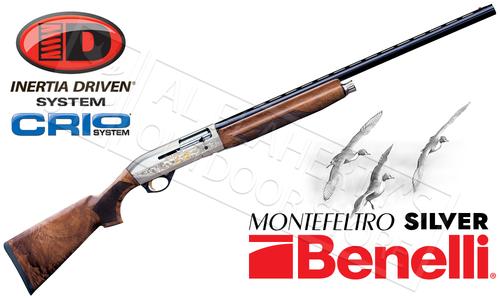 Benelli Montefeltro Silver Shotgun - 12 or 20 Gauge #1085