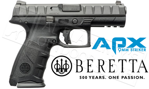 BERETTA APX STRIKER FIRED HANDGUN 9MM WITH BACKSTRAPS