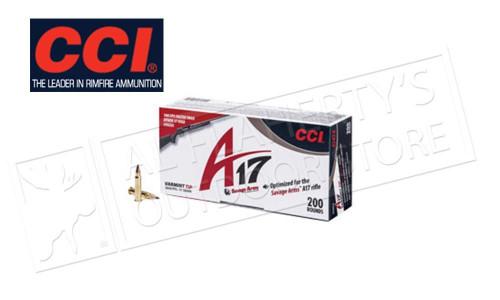 CCI 17 HMR RIMFIRE VARMINT A17 17 GRAIN TIPPED 200 ROUNDS