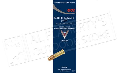 CCI 22LR Mini-Mag, High-Velocity, 36 Grain CJHP, Box of 100 #0031