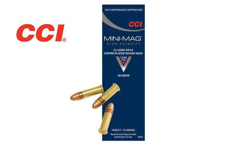 CCI 22LR MINI-MAG, HIGH-VELOCITY, 40 GRAIN ROUND NOSE, BOX OF 100