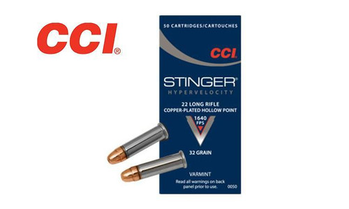CCI 22LR STINGERS, CPHP, 1640 FPS, BOX OF 50