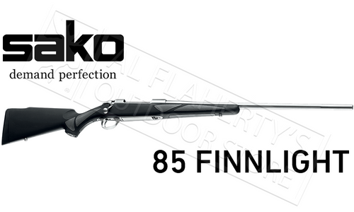 Sako 85 Finnlight Rifle, Synthetic with Fluted Stainless Steel Barrel, Various Calibers #JRS1Q