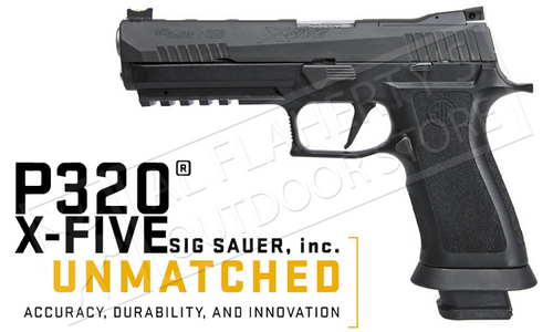 SIG P320 X-FIVE FULL-SIZE PISTOL, 9MM WITH REAR SIGHT PLATE