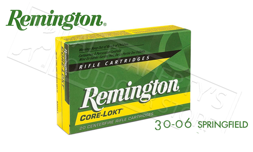 Remington 30-06 SPRG Core-Lokt, Pointed Soft Point 180 Grain Box of 20 #R30064
