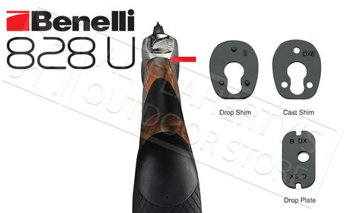 "BENELLI 828U SHOTGUN ENGRAVED, NICKEL PLATED RECEIVER 12-GAUGE 2-3/4"" AND 3"""