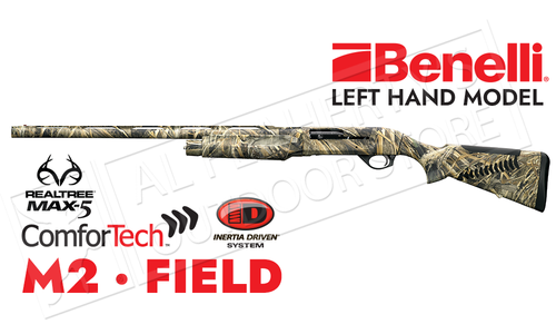 Benelli M2 Field Shotgun LH MAX5 Camo with ComforTech #1112