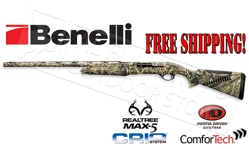 Benelli SG M2 Field Shotgun in MAX5 Camo, Left Handed