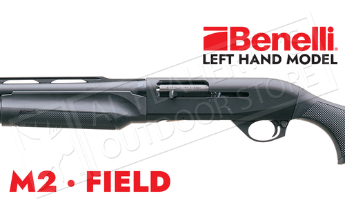 Benelli M2 Field Shotgun Left-Handed Black Synthetic with ComforTech Stock - 12 or 20 Gauge