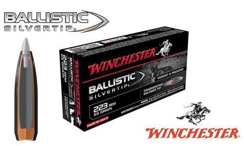 Winchester .223 Rem Ballistic Silvertip, Polymer Tipped 55 grain Box of 20 #SBST223B